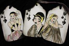 Art Deco Sparkly Ladies Tags - Set of 6