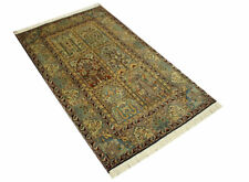 East Rug Kashmir Silk 95x162 Cm 100 Wool Hand Knotted Green Yellow Red