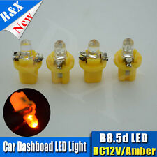 4x 12V B8.5D 1-LED Car Dash Twist Lock Instrument Cluster Gauge Bulbs Yellow