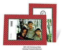 Christmas Dots, Imperfect - 4x6 Photo Insert Cards - 24 Pack by Plymouth Cards