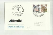 136883 primo volo first flight premier vol alitalia catania zurigo 1981