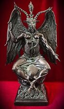 Baphomet Statue-Large Pentagram Occult Sabbatic Horned Goat Idol-Templar Worship