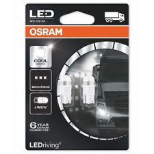 Osram LED W5W 24 V Coche Blanco Frío 6000K Bombillas Cuña 501 2824CW-02B (twin)