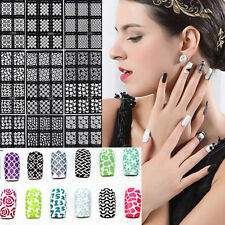 DIY NEW  Style 12Tips/Sheet Nail Vinyls Nail Art Manicure Stencil Stickers Stamp