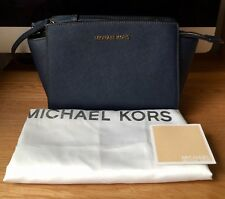 Michael Kors Medium Selma Bag – Navy Blue -New