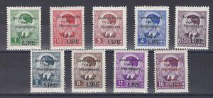 SELTEN 1942 Ital. Besatzung in Montenegro Freim. 35 - 43  Postfrisch ** € 140,--