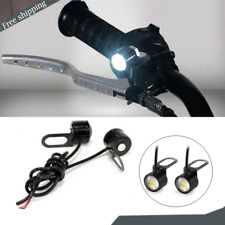2x Motorcycle Rearview Mirror LED Headlight Spotlight Lamp Daytime Running Light
