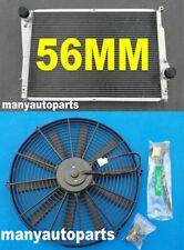 Aluminum radiator + fan for BMW E46 M3 330D 328 325 323 320 Ci 318i 1999-2006 MT