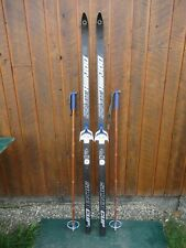 """GREAT Ready to Use Cross Country 70"""" NORVIK 180 cm Skis + Poles"""