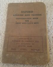 1917 Oxford English and French Conversation Book for Army and Navy Men WW1 Cool