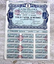 1923 L'Ankaratra Minerals in Madagascar Paris France Stock Vignettes! RARE