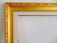 Cadre doré avec marie louise pour tableaux ~ Dorure vive ~ Format peinture 8F