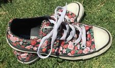 Converse All Star Low Classic Black Floral Flower Shoes 6 36.5 GUC
