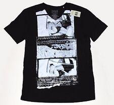 Guess Backseat Action Men's V-Neck Black T-Shirt Size L NWT