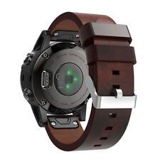 22mm Quick Instal Leather Strap Wristband Watch Band For Garmin Fenix 5 / 5 Plus