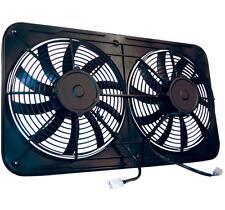 "MaraDyne MJS26K Dual 12"" Electric RADIATOR Fan 2600 CFM FOR CROSS-FLOW W/ SHROUD"