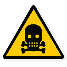 "Nuclear Danger Warning sign sticker decal 4"" x 4"""