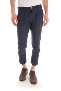 Pantaloni Daniele Alessandrini Jeans Trouser Cotone Uomo Blu PJ5258L0603502 3