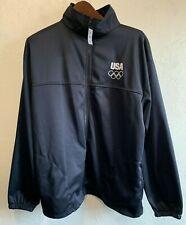 USA Olympic Track Warm Up Jacket Sz XL Dark Navy