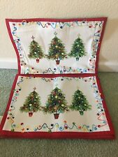 """6 Fiesta Placemats Holiday Gatherings Christmas Tree Place Mats 18"""" X 13"""""""