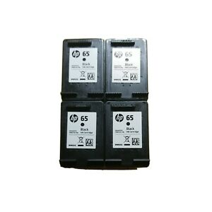 4 EMPTY Genuine HP65 ink cartridges - Never Refilled