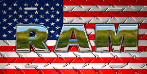 Dodge Ram USA Custom License Plate - Custom Car Tag