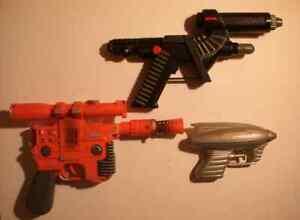 Space Guns, Three Plastic, Includes Star Wars Blaster