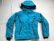 LL Bean Womens Blue Hooded Nylon Hiking Outdoors Winter Jacket Parka S J11