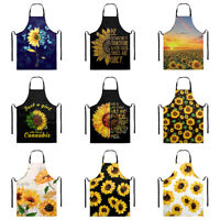 Sunflower Apron With Pocket for Women Cooking Kitchen Artistic Waterproof Aprons
