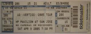 U2 Vetigo Tour FULL Ticket 2005/Kings of Leon HP Pavilion, Ca