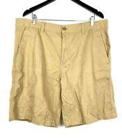 Timberland Men's Flat Front Cargo Shorts Cotton Tan Khakis Casual Sz 38 1316