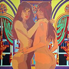 """Peinture de Bernard MORTEYROL intitulée """"Le deuxième sexe et son double"""""""