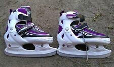 New listing Lake Placid Summit Girls Adjustable Ice Skate, White/Purple, Medium/5-2