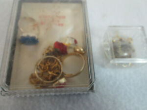 Vintage 1970's lot of childrens jewelry, Forbidden Fruit bracelet, rings, brooch