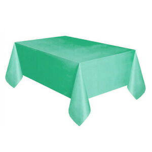 Solid Color Disposable Birthday Tablecloth Kids Happy Birthday Party Supplies