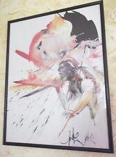 """Lithographie de Moretti Raymond """"l'Homme de Tautavel"""""""