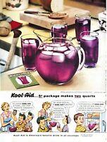 1954 Kool Aid Vintage Print Ad America's Favorite Drink In An Envelope