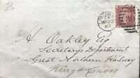 GB QV 1867 COVER PENNY RED 'RF' PLATE 84 LOCAL LONDON USAGE DT 22ND MARCH 1867