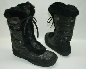 The North Face Quilted Goose Down Lace Up Water Resistant Boots 616273 Size 7.5
