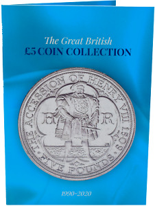 NEW 1990 - 2020 £5 Coin Collectors Album Holds 35 Coins Collect Them All