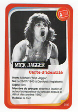 French Pop Star Card Rolling Stones singer Mick Jagger Tongue & Lips logo