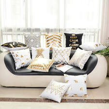 Bronzing Christmas Cushion Covers Gold Printed Pillow Cover Decorative  Case