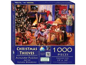 SunsOut 1000pc Jigsaw Puzzle - Christmas Thieves - 44631