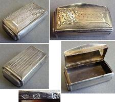 Petite tabatière boite en argent massif 19e siècle FRONTIN silver box