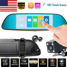 7 Inch 1080P Dual Camera Rear Mirror Car Recorder Car DVR Camcorder Wide Angle