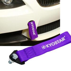 Universal High Strength Drift JDM Racing Front&Rear Tow Strap Belt Hook Purple