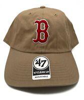 Boston Red Sox 47 Brand Clean Up Adjustable Field Classic Khaki Hat Cap