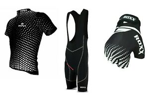 Summer Cycling kit Half Sleeve Jersey Bib shorts and finger less gloves Unisex