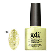 Diamond Glitter Nail GEL Polish by GDI Nails London UV LED Soak 8ml Post K08 - Golden Queenie