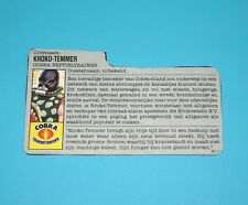 1987 GI JOE CROC MASTER v1 FILE CARD FILECARD NL DUTCH HASBRO